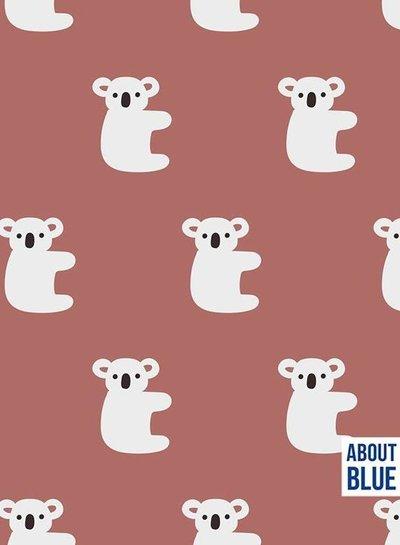 about blue fabrics Hello Koala - french terry