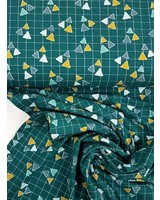 triangles petrolgroen - jersey
