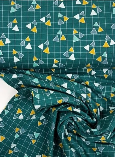 triangles petrolgroen - tricot