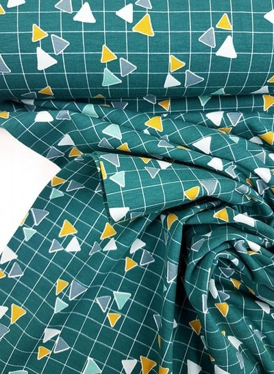 triangles petrolgroen tricot