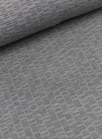 Mathieu grijs - structuur tricot