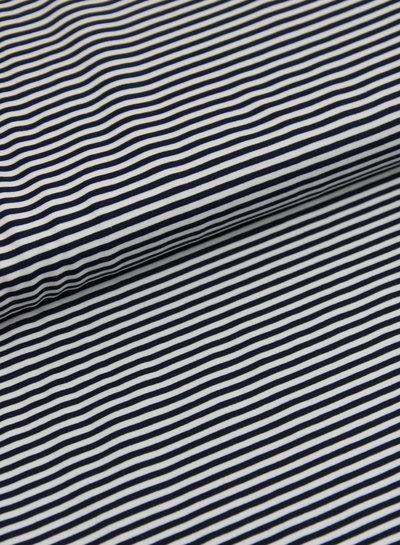 marineblauw/wit gestreept - tricot