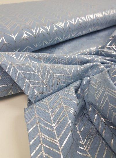 blue fishbone foile - tricot