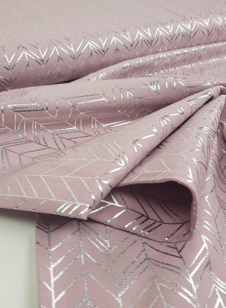 pink fishbone foile - jersey