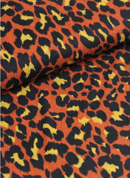 rusty leopard - knitted jersey