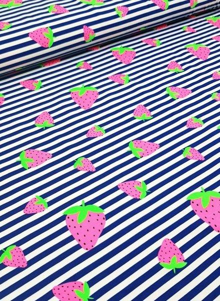 aardbeien neon - tricot
