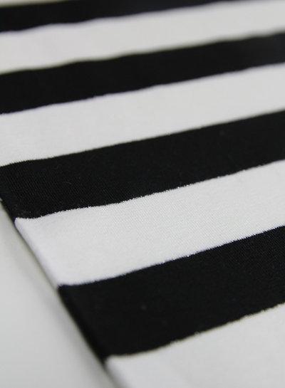 large black lurex stripes - viscose tricot