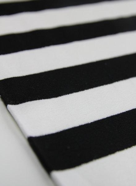 large black lurex stripes - viscose jersey