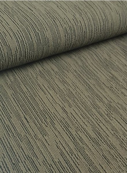 A La Ville khaki stripes - textured knit
