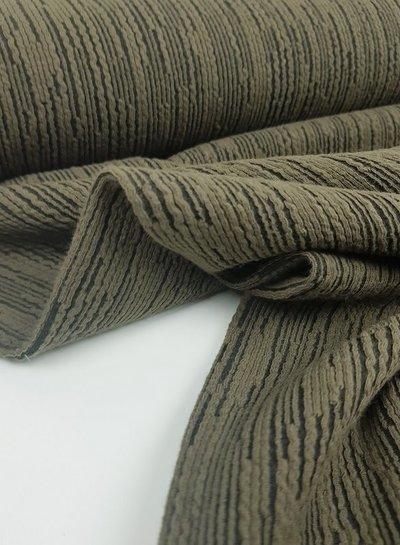 A La Ville khaki strepen - structuur tricot
