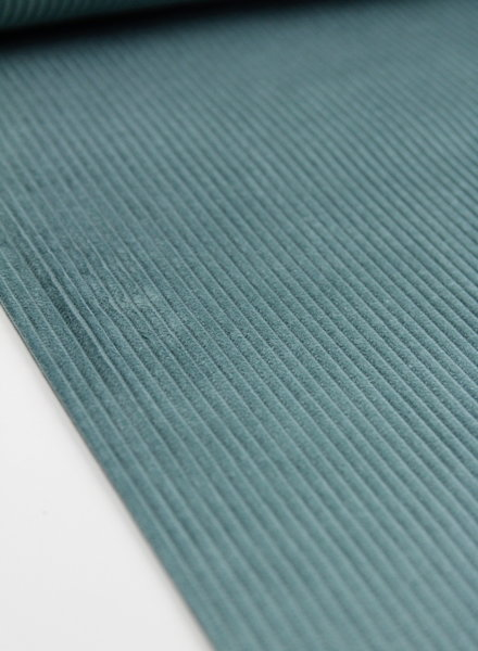 aqua groen corduroy