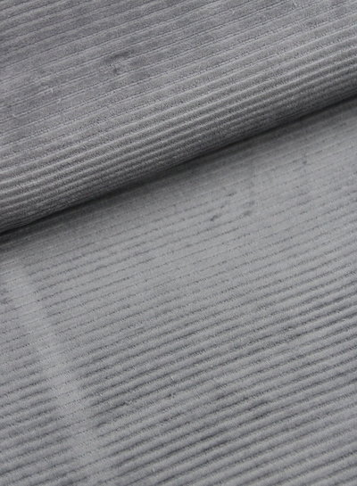 dark grey - stretch corduroy - 100% cotton