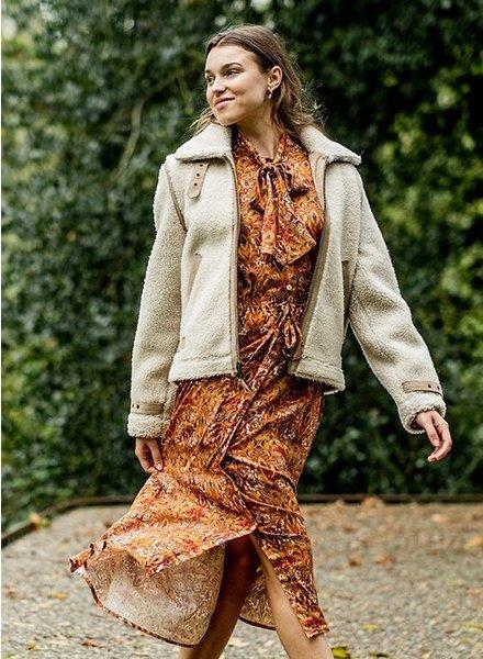 Fibremood Emilia jurk - multicolor flowers - viscose