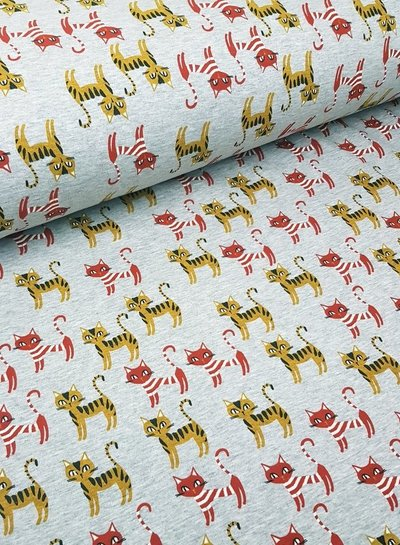 cat stripes - happy fleece