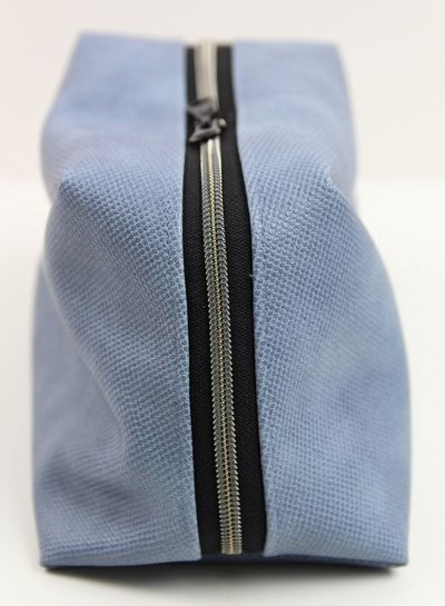 blue vegan leather for bags