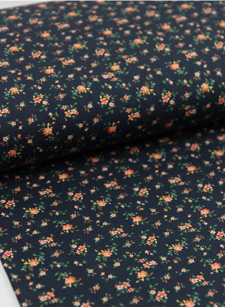 navy little Basel flowers -  sweater
