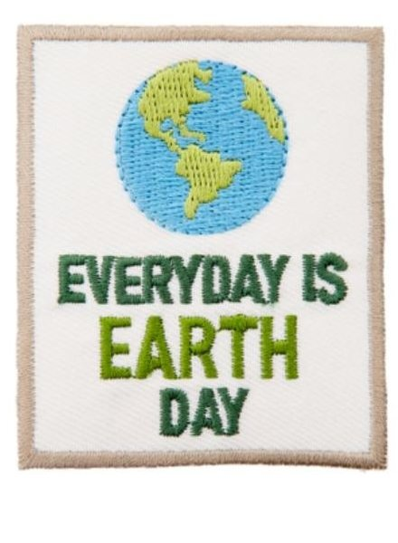 Everyday is earth day - iron on appliction