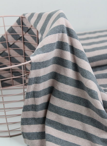 pink stripes - knitted fabric