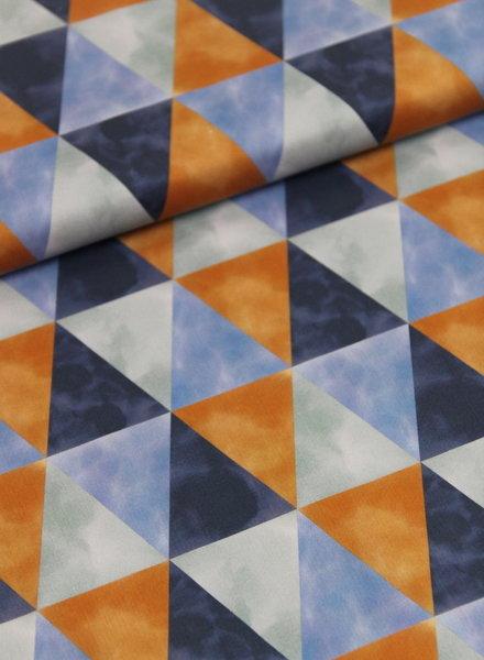 soft triangles - satin cotton
