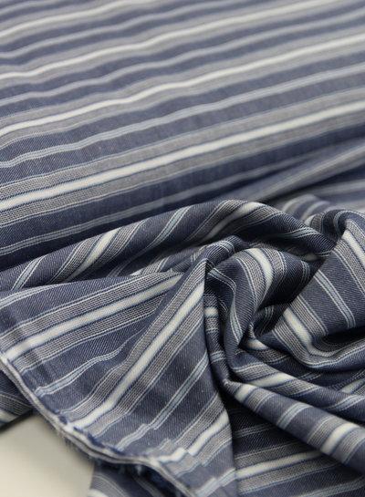 soft stripes blue - viscose