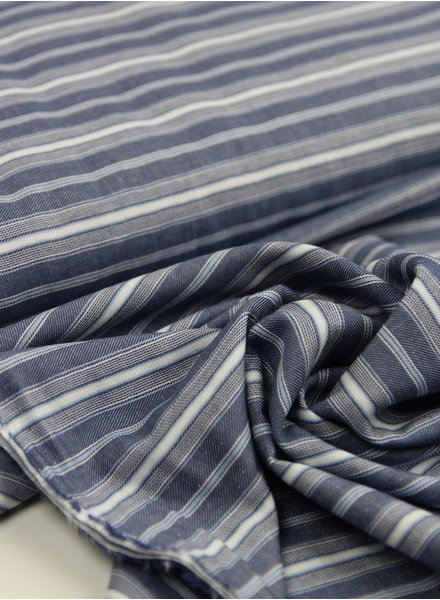 soft stripes blue - viscose