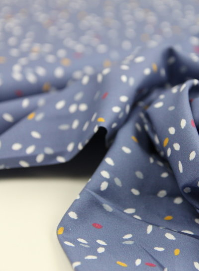 Swafing collectivily blue Lila-Lotta - satin cotton