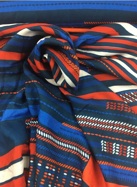 red/blue stripes - viscose