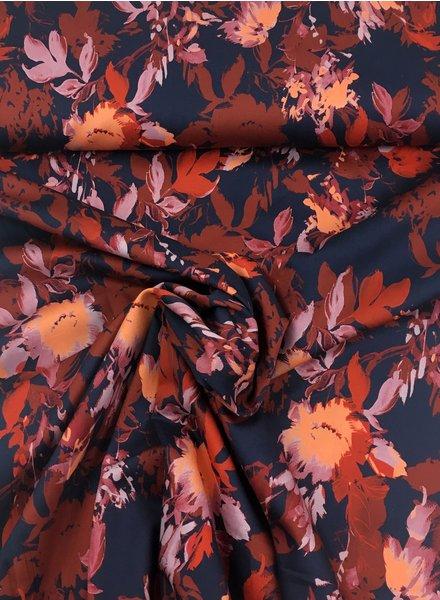 marsala bloemen - katoen