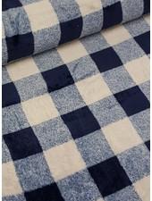 blue squares - wellness fleece