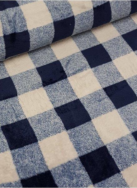 blauw geruit  - wellness fleece