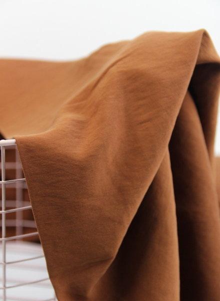 rusty brown - slub viscose
