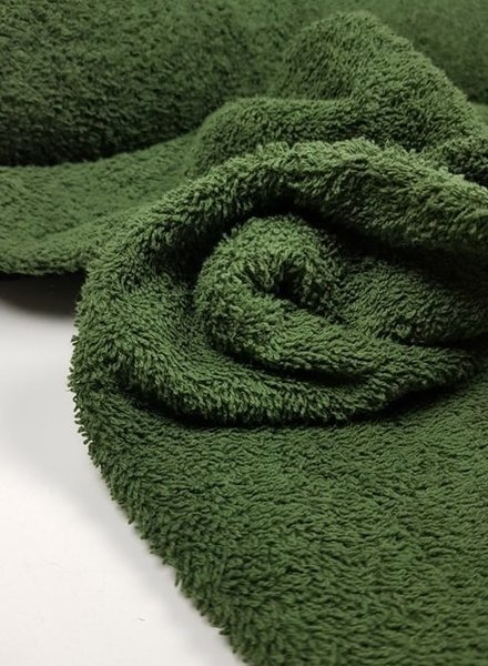 khaki terry towel fabric