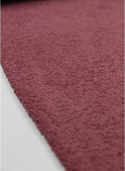 dusty pink terry towel fabric