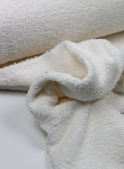 ecru terry towel fabric
