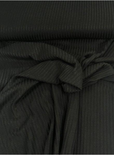 donkergrijs geribbeld - stevige viscose tricot