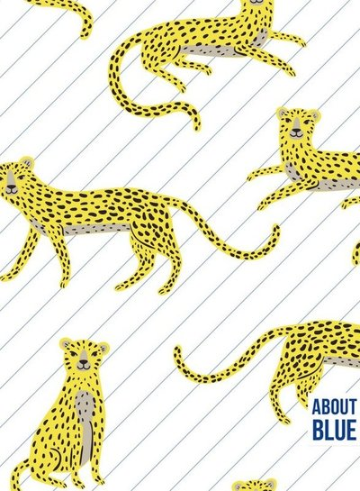 about blue fabrics Say cheeta - french terry