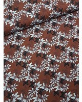 Lilia marsala flowers - french terry