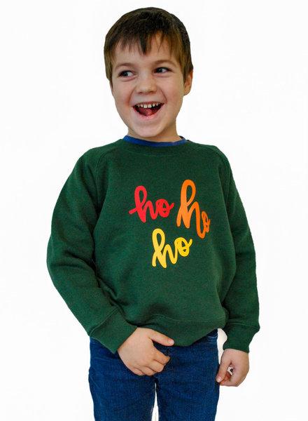 HO HO HO - sweater groen kids