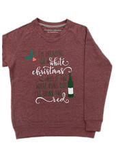 By Madeline White & red christmas - sweater lady