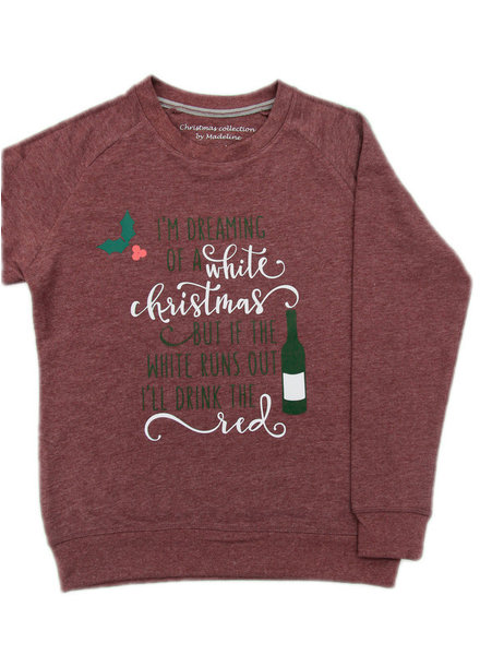 By Madeline White & red christmas - sweater vrouwen