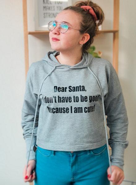 By Madeline Dear Santa - crop hoodie