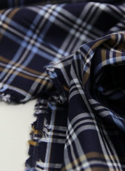 Hugo boss checked print blue - soft cotton