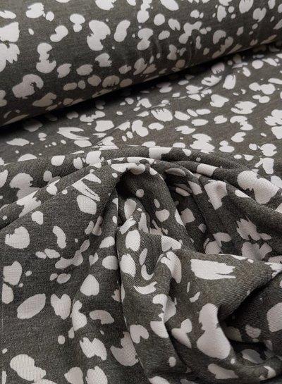 Hugo boss spots khaki  - zachte viscose tricot