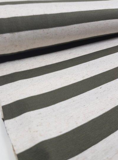 Hugo boss khaki striped - viscose jersey