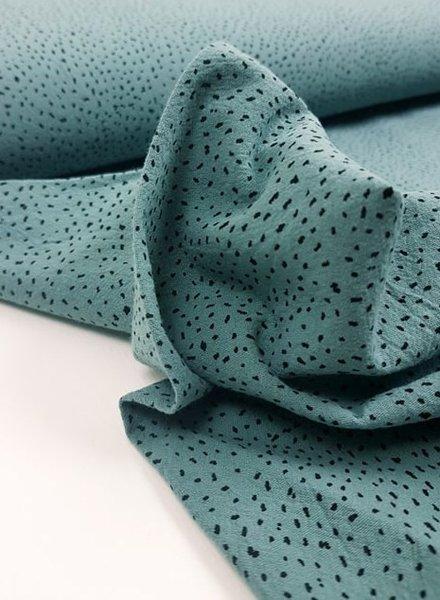 mint dots - soft sturdy cotton