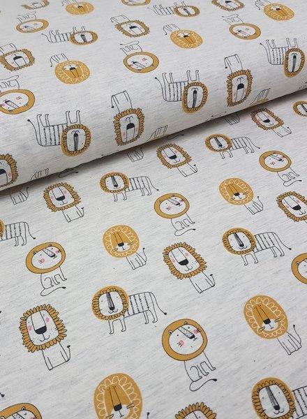 oker leeuwtjes - tricot