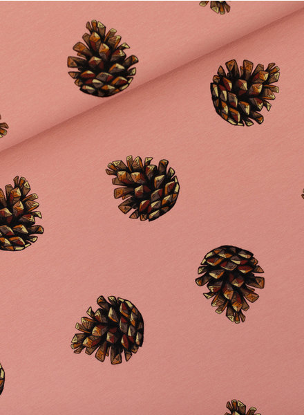 See You at Six Pine Cones - French Terry - Cameo Bruinachtig Rose