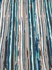 petrol modern stripes - French terry