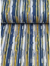 blauw moderne streep  - French terry