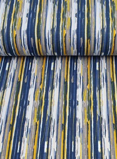 blue modern stripes - French terry